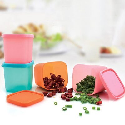 Tea Bean Grain Spice Food Grain Plastic Storage Box For Kitchen Fridge Container Seasoning Cans with Cover Kitchen Tools A05