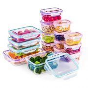 [16 Pack] Food Storage Containers with Lids, Plastic Food Containers with Lids, Airtight Storage Container Sets for Healthy Diet, Vegetables, Snack & Fruit (Small&Large Size), BPA Free & Leakproof