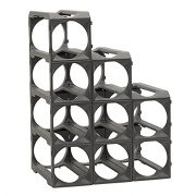 Stakrax - Stackable, Modular Wine Rack - 12 Bottle Set