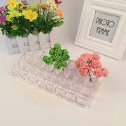 24 grid rectangle large acrylic shelf storage box makeup organizer desk rangement cuisine rack Container cosmetic box