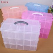 Free shipping 3 layers 30 grid removable storage box in a covered storage box king tights toy Lego plastic storage box