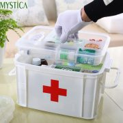 1PCS Multi-layered Large Family First Aid Kit Box Medicine Medical Storage Box Medical Plastic Drug Gathering Organizer Boxes