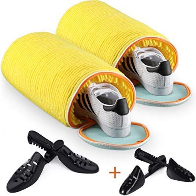 Teletrogy Shoes Laundry Bag - Shoe Cleaner Kit for Sneaker - Durable Polyester Zippered Laundry Bag for Shoes -Sneaker Cleaner Pair of Adjustable Shoe Trees Include Perfect for Canvas/Sneaker