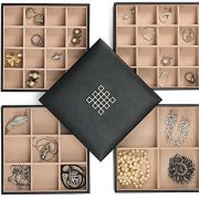 Glenor Co Earring Organizer Tray - 4 Stackable Trays Lid