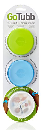 Humangear GoTubb, 3-Pack, Medium (2oz), Clear/Green/Blue