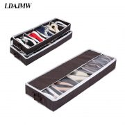 2017 Hot Multi-purpose Shoes Organizer Storage Shoe Case Coffee Bamboo Charcoal 5 Cell Space-saving Shoe Racks Storage Box