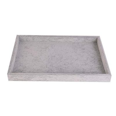 Stylifing Jewelry Tray Showcase Display Organizer Holder Storage Stackable Grey Velvet Empty Plate for Brooch Watch Necklaces Bracelet Ring Earrings