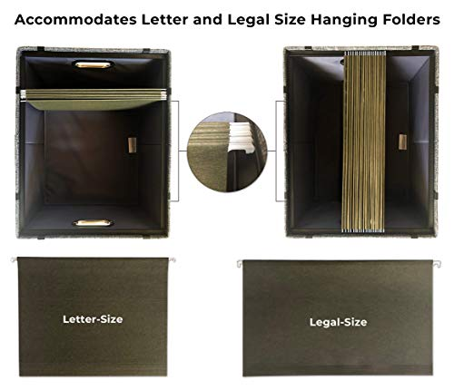 File Boxes for Hanging Files | Decorative Filing Organizer