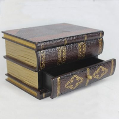 Home Antique Wooden Book Decorative Storage Box