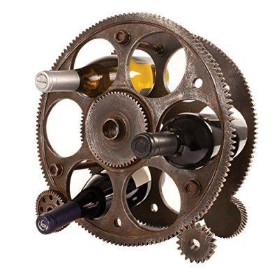 Foster & Rye 2755 Gears And Wheels Wine Rack Multicolor