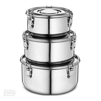 Stainless Steel Containers with Lids