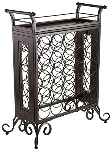 Winsome Wood Antique Bronze Finish Silvano Wine Rack
