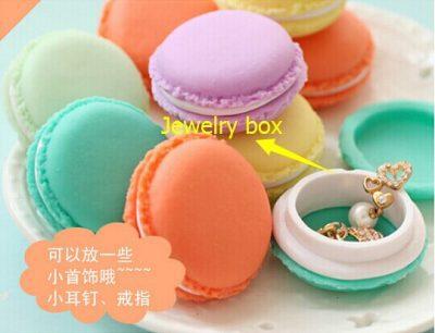 free shipping wedding decoration Macaroon Mini Jewelry Box Carry on portable Debris storage box Kit #5173 Z1