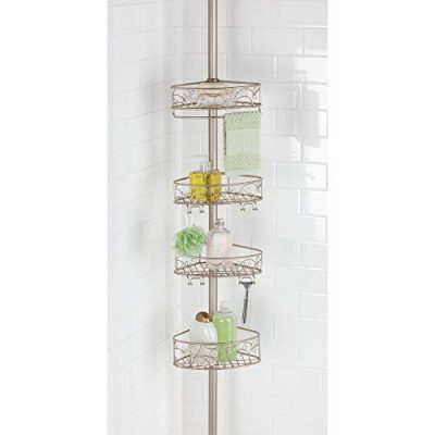 InterDesign Twigz Metal Wire Tension Rod Corner Shower Caddy