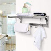 REIDEA Bath Towel Rack 23 Inch Bathroom Shelves
