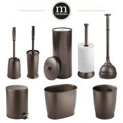 mDesign MetroDecor Toilet Bowl Brush, Plunger/Toilet Paper Holder