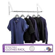 Stock Your Home Retractable Closet Rod and Clothes Rack