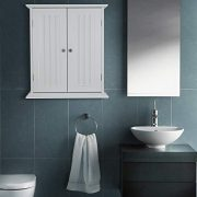 ChooChoo Bathroom Medicine Cabinet 2-Door Wall Cabinet Wood