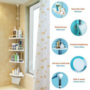 Alice Constant Tension Shower Caddy Pole, Commecial Grade Rustproof Corner