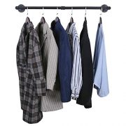 OROPY Industrial Pipe Clothes Rack, Heavy Duty Detachable Wall