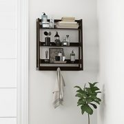 UTEX 3 Tier Bathroom Shelf Wall Mounted with Towel Hooks