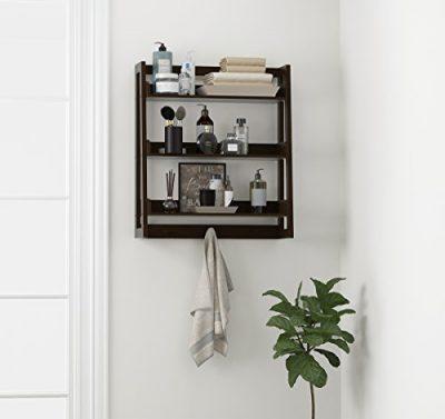 UTEX 3 Tier Bathroom Shelf Wall Mounted with Towel Hooks