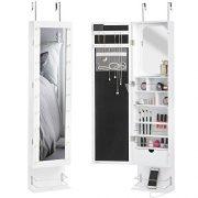 Beautify Mirrored Jewelry Cabinet Armoire Storage Organizer