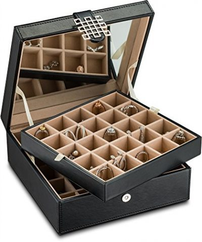 Glenor Co Classic 50 Slot Jewelry Box Earrings Organizer