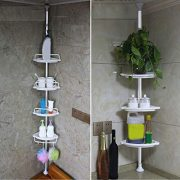 Aleola 4 Tier Basket Holder US Stock Suction Cup Corner Shower