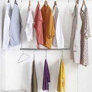 STORAGE MANIAC 2-Pack Adjustable Hanging Closet Rod