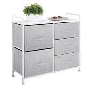 mDesign Wide Dresser Storage Tower - Sturdy Steel Frame