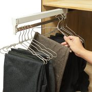 Pull-Out Closet Valet Rod Adjustable Wardrobe Clothing Rail