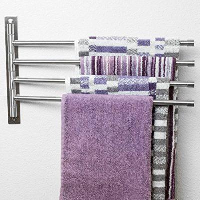 Swing Out Towel Bar - Stainless Steel Swivel Towel Rack