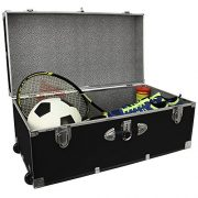 Seward Trunk Wheeled Footlocker, Black