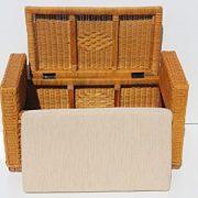 Bruno Handmade 32 inch Rattan Wicker Chest Storage Trunk Organizer