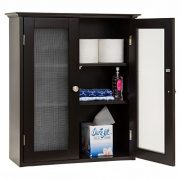 Best Choice Products Bathroom Wall Wood Medicine Cabinet Organization