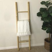 Decorative 5-Foot Natural Beige Bamboo Wall-Leaning Towel