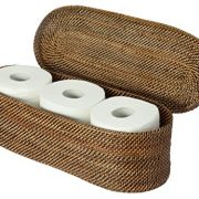 KOUBOO Carmel Handwoven Nito Toilet Paper Roll Cover