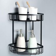 Alise Stainless Steel Bathroom Shower Caddy 2-Tier Corner Basket Storage