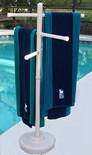 """Comes within the colours white, bone, or the brand new metallic bronze Moveable outside towel rack It stands 50"""" tall and has (3) 24"""" adjustable crossbars This towel rack is made from furnishings grade plastic, so it won't rust, crack, discolor, or rot like the opposite towel racks"""