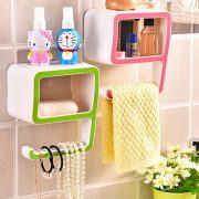New Fashion 9 shape Wall Hanging Shelf Rack Bathroom Storage