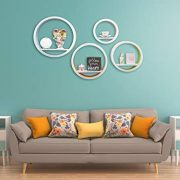 Baby Necessities Boutique White Floating Shelves - Wall Shelf Set of 4 Circles