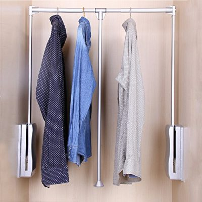 Gimify Pull Down Closet Rod, Wardrobe Lift Organizer Storage Systerm