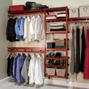John Louis Home Solid Wood Closet System, Standard