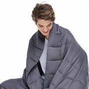 ZonLi Adults Weighted Blanket 20 lbs(60''x80'', Grey, Queen Size)