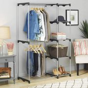 Whitmor Double Rod Freestanding Closet Heavy Duty
