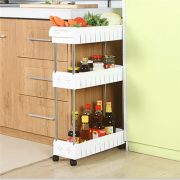 Removable Storage Rack Shelf with Wheels Bathroom/Kitchen/Refrigerator