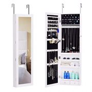 BASTUO Jewelry Cabinet Lockable Wall-Mounted Hanging Jewelry Armoire Storage