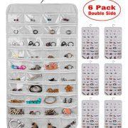 AARainbow 6 Packs Hanging Plastic Jewelry Organizer Bag