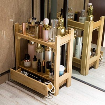 GOBAM Makeup Organizer Holder Cosmetic Storage Bathroom Organizer